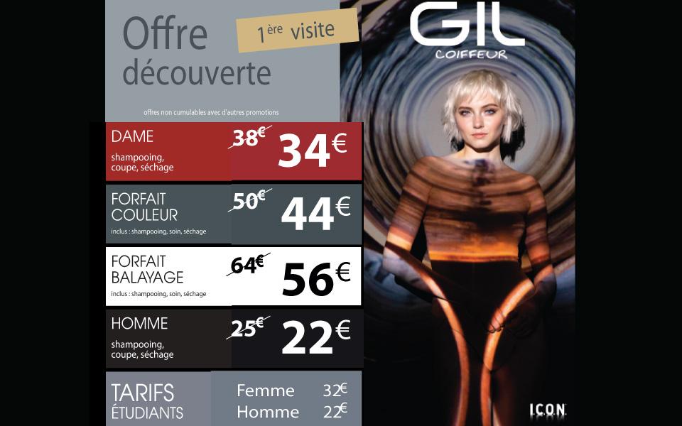 Les forfaits Gil Coiffeur